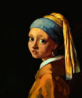 Girl with a pearl earring by RenRoyal