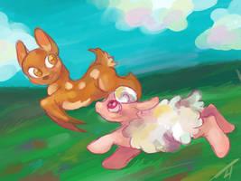 Honeydew and Fleecylou by Fyrecalla