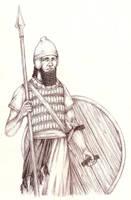 Assyrian warrior by Pierdziwilk