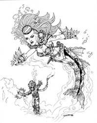 Steampunk Mermaid by TheElysian