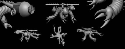 Dracobot Final Renders by sinnedaria