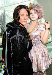 Katniss and Effie Headshot by TheOriginalAKTREZ
