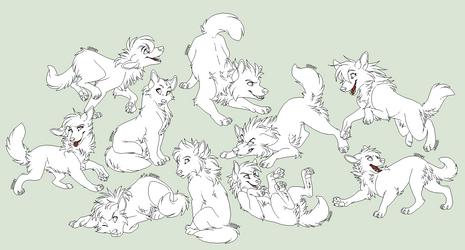 Wolfpups by Lerynn