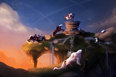 .: Cliffy Wellspring :. by Eraili