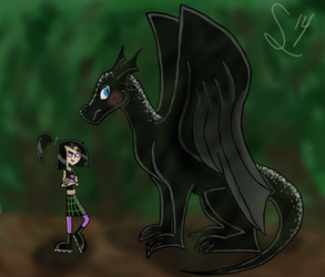 A Girl and her Dragon by PhantomS14