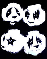 Panda Kiss by mattcantdraw