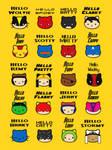 Hello Superhero Kitties by mattcantdraw
