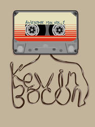 Kevin Bacon Mix Tape by mattcantdraw