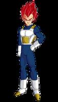 Vegeta (Super Saiyan God) by hirus4drawing