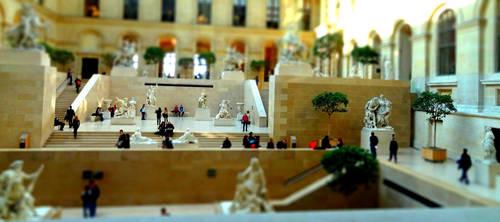 Le Louvre Miniature - Tiltshift Effect - Side View by Cloudwhisperer67