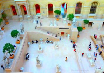 Le Louvre Miniature - Tiltshift Eff. Profile View by Cloudwhisperer67