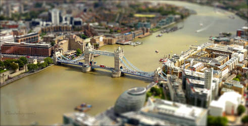 Toy London - Tiny Tower Bridge by Cloudwhisperer67