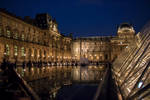 Le Louvre by Night (colors) by Cloudwhisperer67
