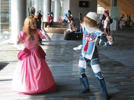 Peach vs Sheik by ClumsyClueless