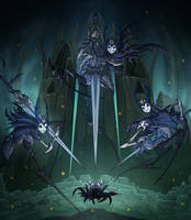Hollow Knight - Mantis Lords by TimeLordJikan