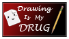 Drawing is my Drug Stamp by ARSugarPie