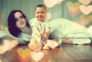 Mother and daughter by YlianaKapella-Neidon