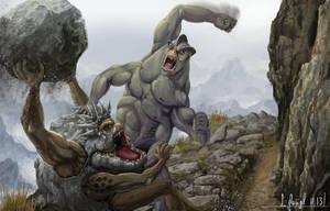 Graveler vs machamp by SimonGangl