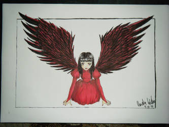 Some girl with wings.. by Vampiress196
