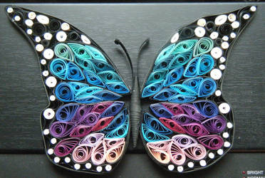 Quilled Butterfly by Vampiress196
