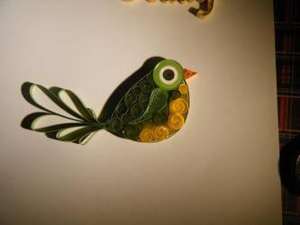Quilled bird by Vampiress196
