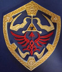 Hylian Shield quilled by Vampiress196