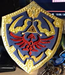 Hylian Shield quilled v2 by Vampiress196