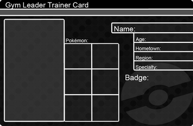 Gym Leader Trainer Card Template by khfanT