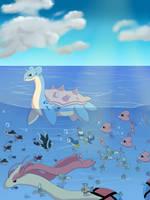 Pokemon sealife by khfanT