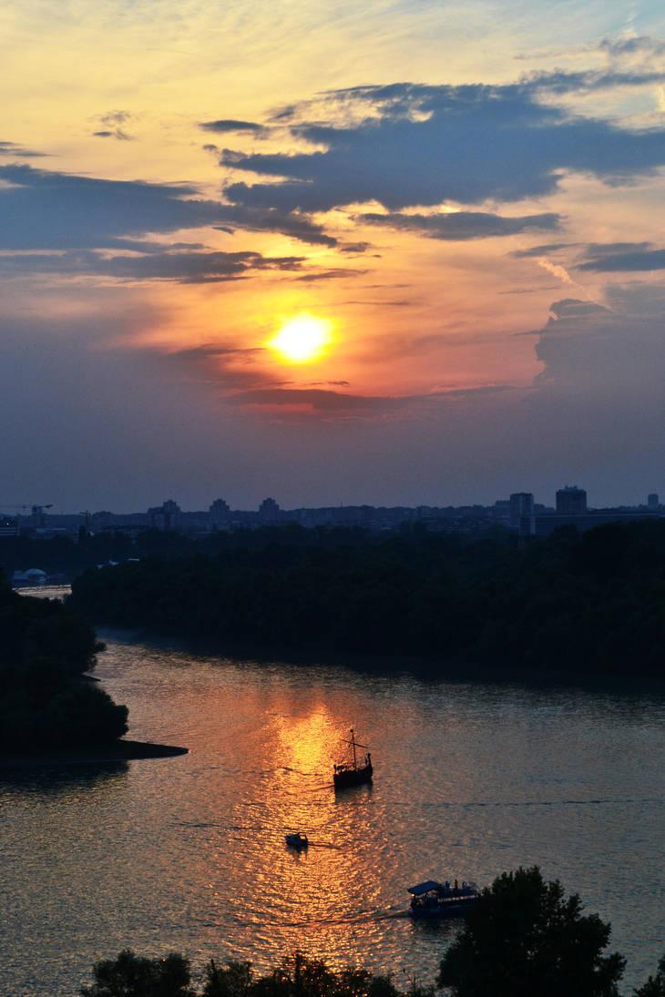Belgrade Sunset by siqna333