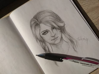 Ciri drawing  by midorialbarn