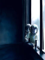 two small ghosts by lilfrog
