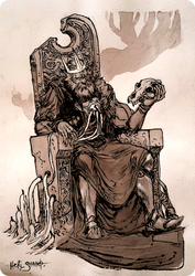 The Grey King (The king / Le roi) by Heri-Shinato