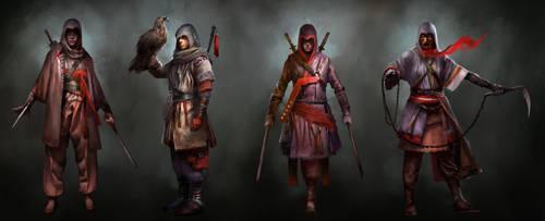 Assassin's Creed TLMC: Main Character Concepts by KangJason