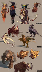 The Big Game Huntress Sketches by KangJason