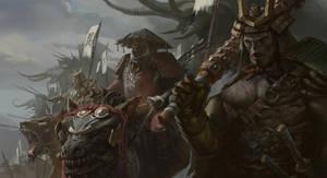 Samurai Orc Warlords by KangJason