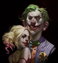 Joker and Harley by KangJason