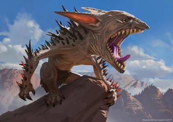 MTG: Spikeshot Goblin by KangJason