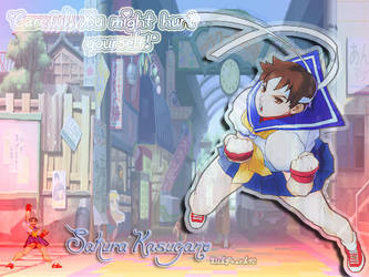 Sakura Kasugano Wallpaper by DikPeach92