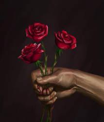 Roses by sketchabeth