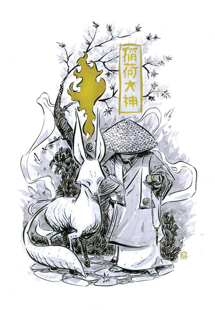 Kitsune - Fox fire by LukeHorsman