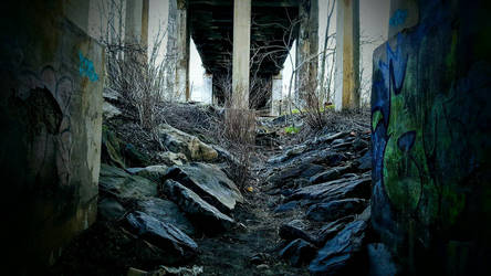 Beneath a Bridge  by MagmaStorm66