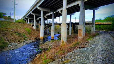 River Under a Bridge by MagmaStorm66