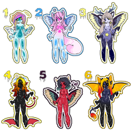 Angels and Demons Slykimi Adopts .:CLOSED:. by PrincessPwrs