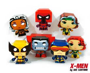 X-Men mini paper toys by Gus-Santome