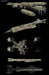 William Halsey Jr Class Destroyer by GlennClovis
