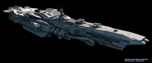 Reaper-Class Battle Cruiser by GlennClovis