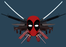 The Expendables: Deadpool Poster by KirilloTR0N