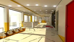 Student Project: College Interior Viz by KirilloTR0N