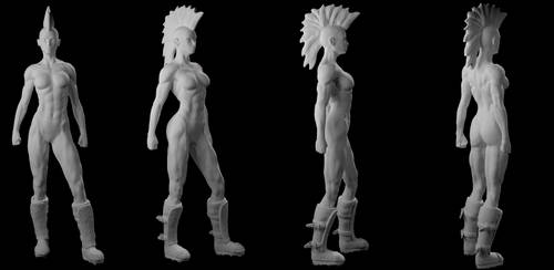 Punk Girl 3D by Wainaja